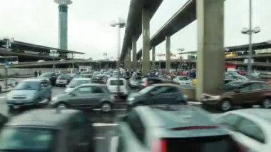 Large car parking at airport — Stock Video