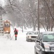 Moscow's municipal workers clean snow. — Stock Video #27999733