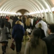 Stock Video: People goes in subway corridor.