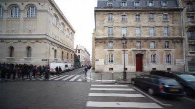 Bibliotheek, vernoemd naar sv.zhenevevy in parijs — Stockvideo