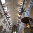 Stock Video: Ceiling Cathedral of St. Louis in Paris