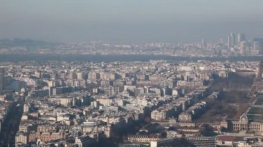 Paris left to right from Montparnasse tower — Stock Video