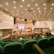 People sits in conference hall on CPM Collection Premiere — Stock video #28063143