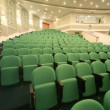 Panning of empty auditorium with seats — Stock Video #28063435