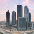 Moscow International Business Center (Moscow-City) at evening — Stock Video