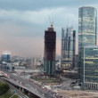 Moscow International Business Center (Moscow-City) at evening — Stock Video #28063801