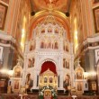 Stock Video: Altar and main dome in Christ Savior Cathedral
