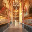Walls and ceiling in passage  in Christ the Savior Cathedral — Stockvideo