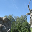 Stock Video: Sorrowful Mother and Motherland Calls monuments