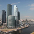 Moscow International Business Center (Moscow-City) at summer day — Stock Video