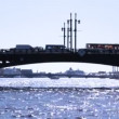 Stock Video: Palace Bridge and NevRiver at St. Petersburg
