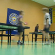 Boys play ping-pong in Russian State University — Vídeo de stock