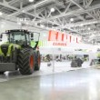 Stock Video: Agricultural machinery on AGROSALON Exhibition.