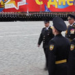 Highest officers commanders on rehearsal in honor of Great Patriotic War victory — Stock Video