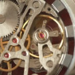 Moving gears inside working watch mechanism  — Stock Video