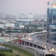 Cars on road near Northern Tower of Moscow International Business Center — Stockvideo