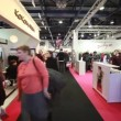 Buyers walks in exhibition hall on CPM Collection Premiere — Stock Video