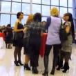 Stock Video: Women stand at table on WellTrend Vision Award 2010