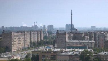 Moscou no dia de verão, panning — Vídeo Stock