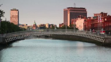 The Liffey Bridge — Stock Video