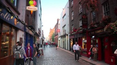 People on Temple Bar — Stock Video