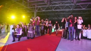Nominado al ir en la alfombra roja en trend vision award 2010 — Vídeo de Stock