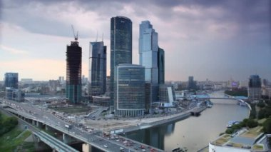 Moscow International Business Center, also referred to as Moscow-City — Stock Video