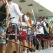 Young men participate in IV Traditional archery tournament in RSUPES&T — Stockvideo