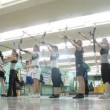 Girls participate in IV Traditional archery tournament in RSUPES&T — Stock Video