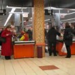Check-out area in shopping and entertainment center Semenovskiy — Stok video