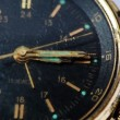 Stock Video: Antique gold wristwatch with moving second hand