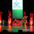 Young girl appears on stage on finale competition Student of year — Stock Video
