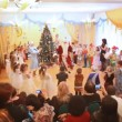 New Years holiday in a kindergarten, parents watch performance in kindergarten — Stock Video