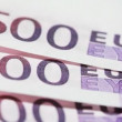 Banknote like real five hundred euros spinning — Stock Video #28805639