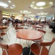 Cafe with chairs and table in supermarket — Stock Video #28806327