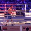 Stock Video: One of boxers in blood during a boxing match