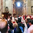 Priests come from St. Peters Basilica (Basilica di San Pietro) — Stock Video
