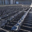 Chairs on square in front St. Peters Basilica at Vatican — Stock Video #28811523