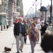 Stock Video: People go on sidewalk of Nevprospectus