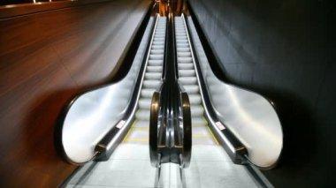Close-up of empty escalator — Stock Video