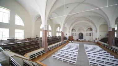 Interior German Saint Peters church — Stock Video