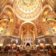 View goes from floor to roof inside a Cathedral of Christ the Saviour — Stock Video #28820415