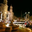 Many people gathered to see Participants Miss Rome 2010 on Piazza Navona — Stock Video