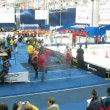 People watch mini-robot tournaments during ROBOFEST-2011 — Stock Video