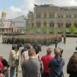 Stock Video: Spectators watch Victory Day Parade