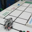 Robot is sort bricks by color and shape at ROBOFEST-2011 — ストックビデオ #28844203