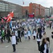 White Aprons mass action dedicated to fighting corruption — Vídeo de stock