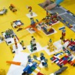 Lego constructor is cleaned after ROBOFEST-2011 — Stock Video