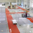 Workers disassemble the exhibition stands in Crocus Expo — Stock Video