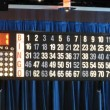 Display with blinking numbers during bingo game — Stock Video